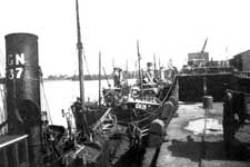 Trawlers at the Middle Pier, Granton – Click to enlarge